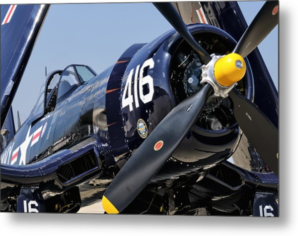 Navy Corsair Metal Print