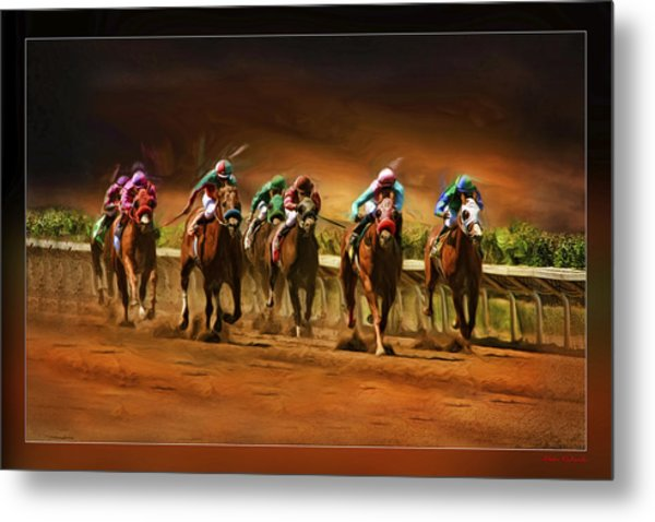 Horse's 7 At The End Metal Print