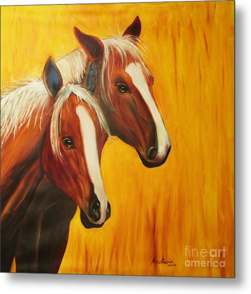 Horses Metal Print by Anastasis  Anastasi
