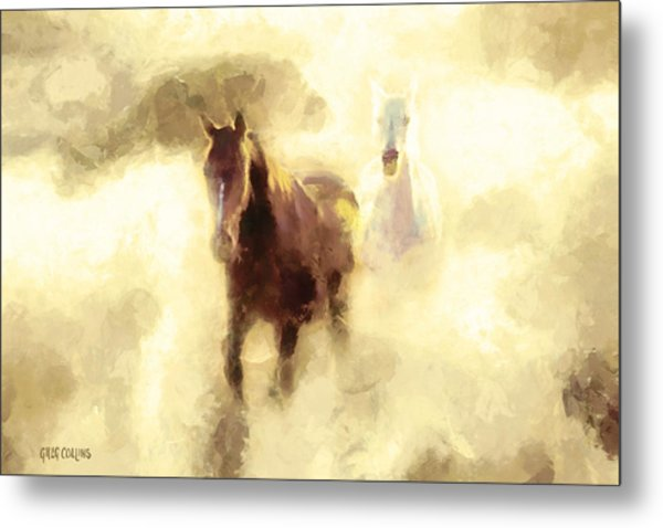 Horses Of The Mist Metal Print