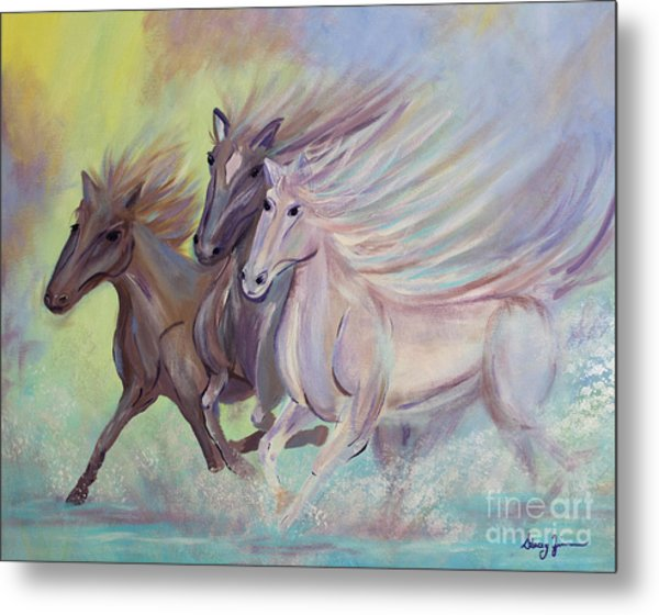 Horses Of The Sea Metal Print