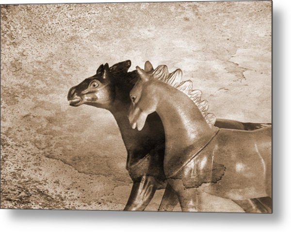 Horses Trapped In A Dream Metal Print