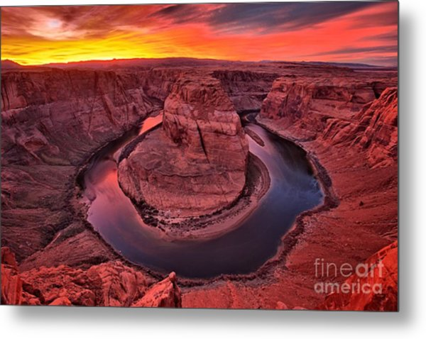 Horseshoe Bend Sunset Metal Print