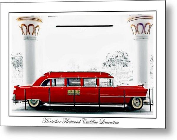 Horseshoe Fleetwood Cadillac Limousine Metal Print