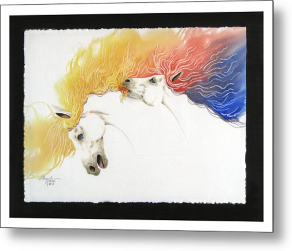 Horsin Around Number Ten Metal Print