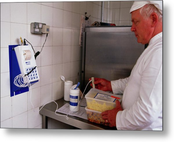 Hospital Food Check Metal Print by Antonia Reeve/science Photo Library