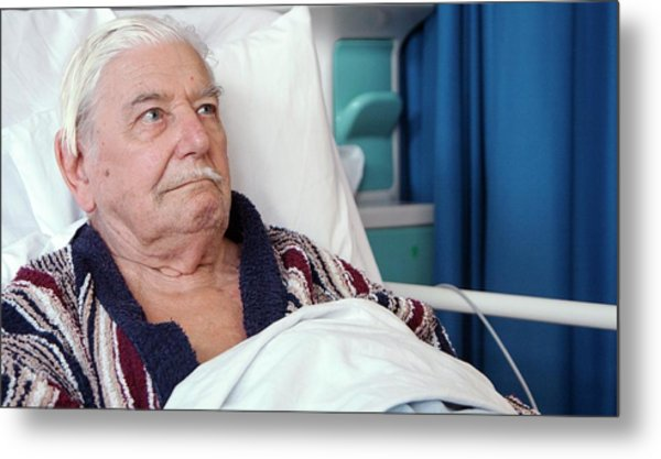 Hospital Patient Metal Print by Life In View