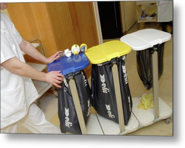 Hospital Waste Disposal Metal Print
