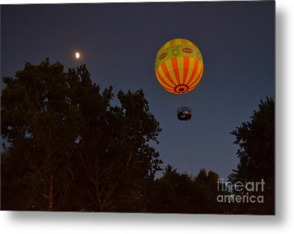 Hot Air Balloon At Night  Metal Print