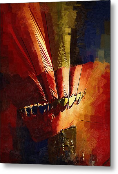 Hot Air Balloon Ready To Go Metal Print