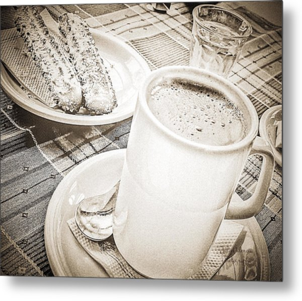 Hot Chocolate In Cold Ushuaia Metal Print by Julie Palencia