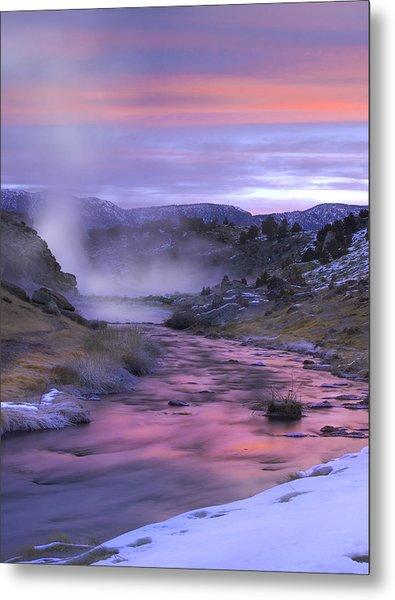 Hot Creek At Sunset Mammoth Lakes Metal Print