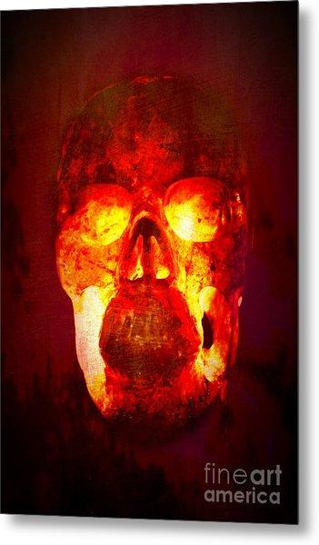 Hot Headed Skull Metal Print
