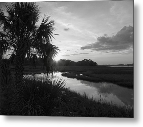 Hot June Sunrise I        Bw Metal Print