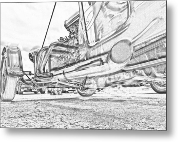 Hot Rod Exhausting Metal Print