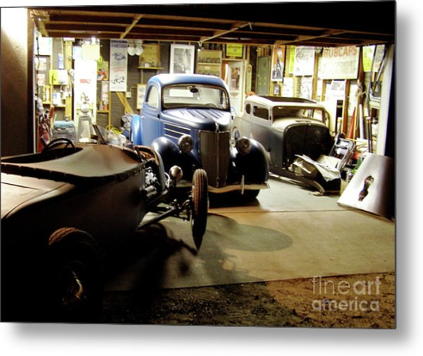 Hot Rod Garage Metal Print