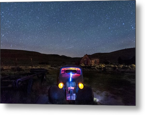Hot Rod Nights Metal Print