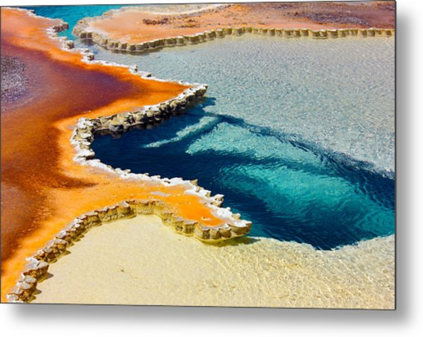 Hot Spring Perspective Metal Print