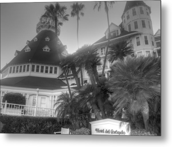 Hotel Del At Sunset Metal Print
