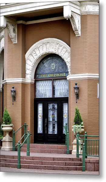 Hotel Door Entrance Metal Print