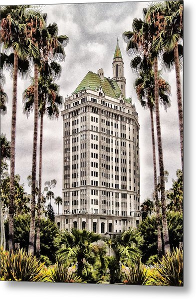 Hotel In Long Beach Metal Print