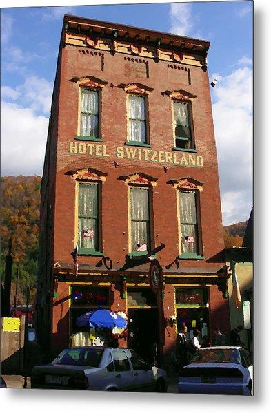 Hotel Switzerland In Jim Thorpe Pa Metal Print by Jacqueline M Lewis