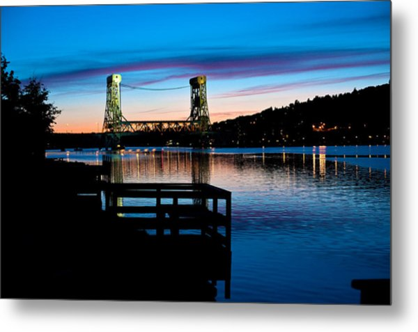 Houghton Bridge Sunset Metal Print