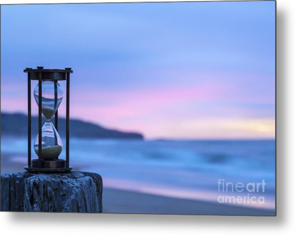 Hourglass Twilight Sky Metal Print