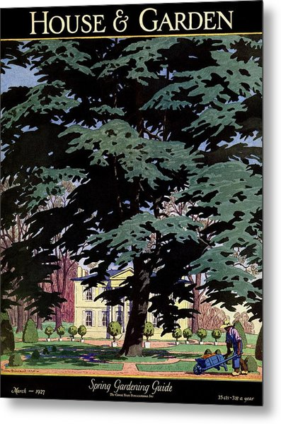 House And Garden Spring Gardening Guide Cover Metal Print