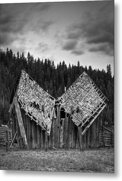 House Broken Metal Print by Ren Alber