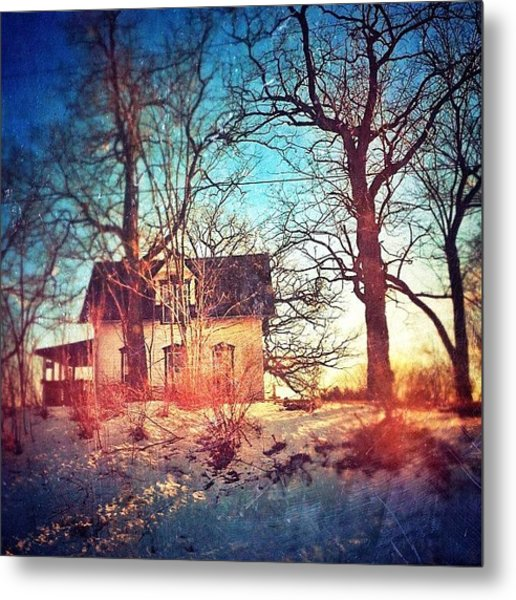 #house #home #old #farm #abandoned Metal Print