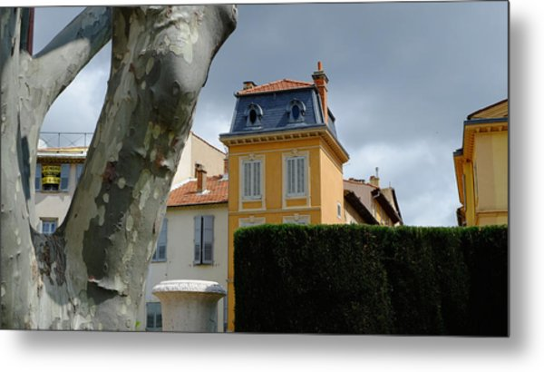 House In Grasse Metal Print