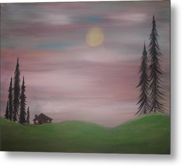 House In The Woods Metal Print by Tina Murray