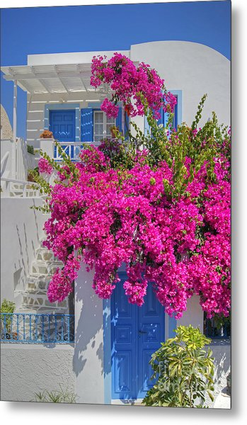 House Of Bougainvillea Metal Print