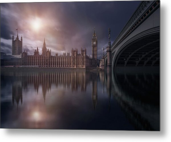 House Of Parliament Metal Print
