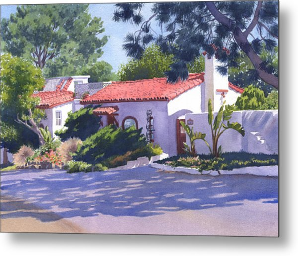 House On Crest Del Mar Metal Print