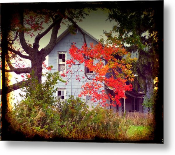 House On Hill 2 Metal Print by Michael L Kimble