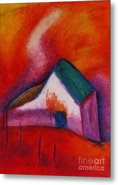 House On The Hillside Metal Print