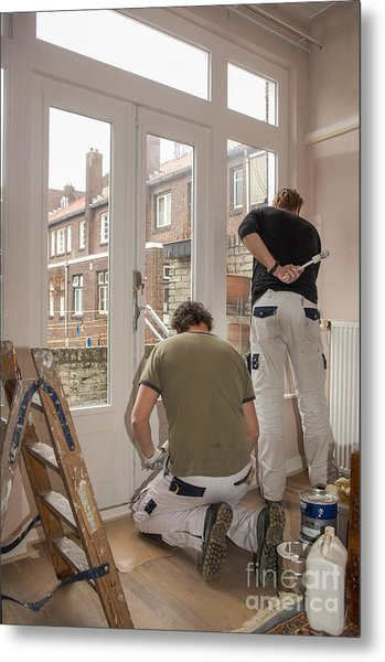 House Painters At Work Metal Print