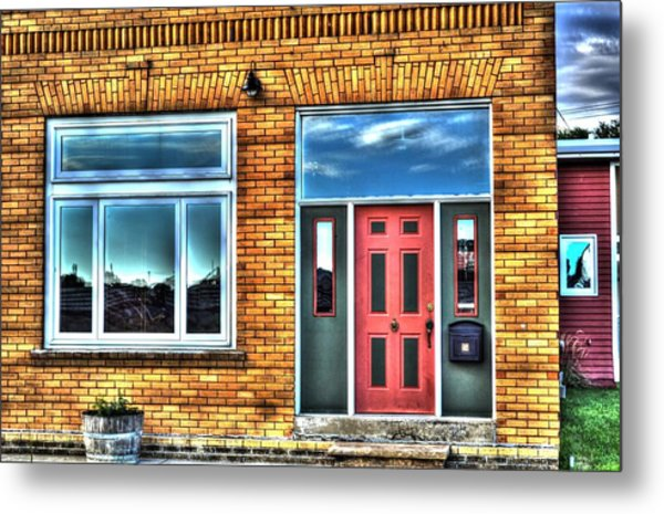 House Reflections Metal Print