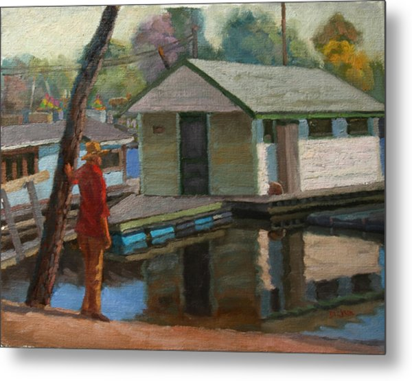 Houseboat On The Mississippi Metal Print