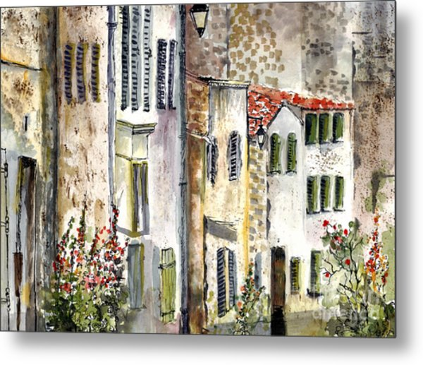 Houses In La Rochelle France Metal Print