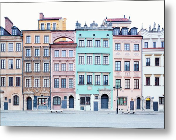 Houses On Old Town Market Place Metal Print by Jorg Greuel