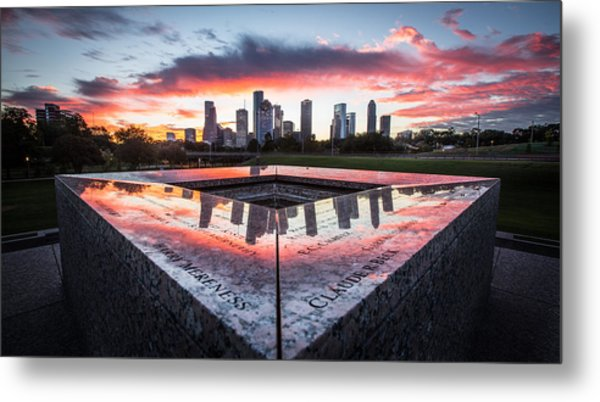 Houston Police Memorial Metal Print