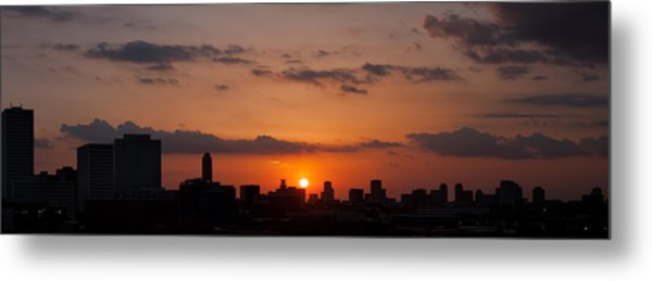 Houston Skyline At Sunset Metal Print