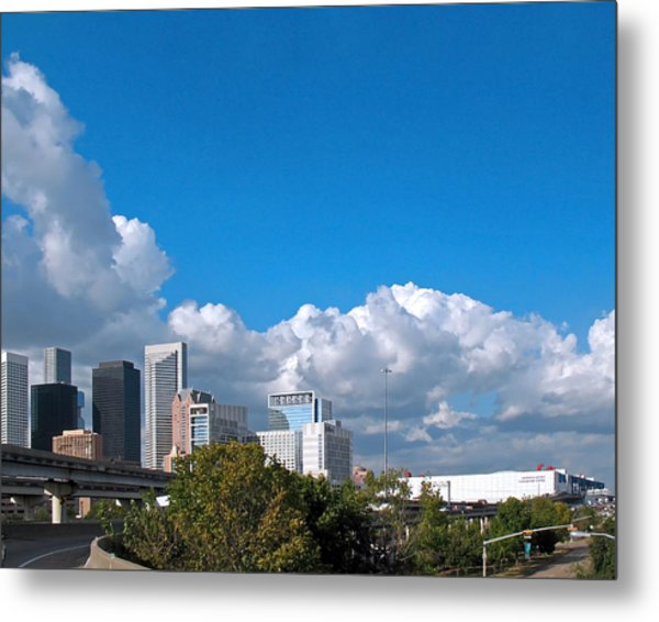 Houston Skyline Southeast Metal Print