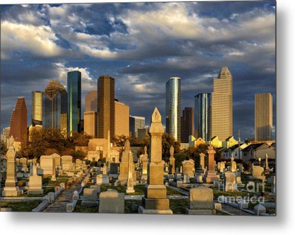 Houston Sunset Skyline Metal Print