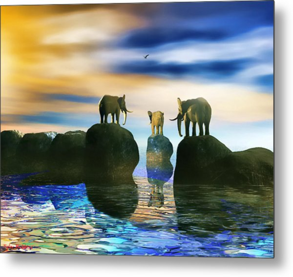 How Did He Get There Fred Metal Print