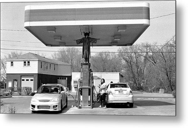 How Do You Pump Gas Metal Print by Chris Luechung