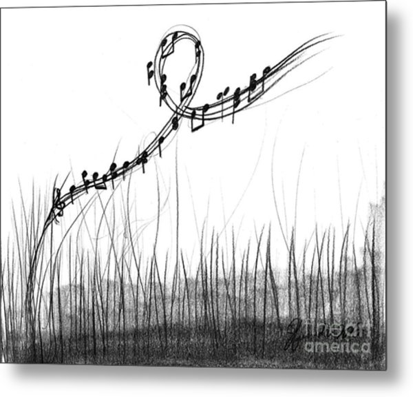 How Sweet The Sound Metal Print